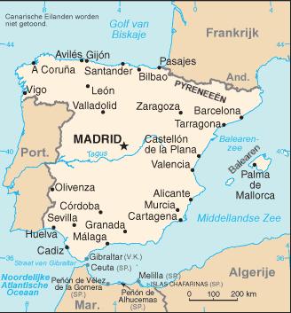 spanje-landkaart
